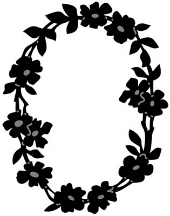 Marianne Design Craftables - Flower Border Oval