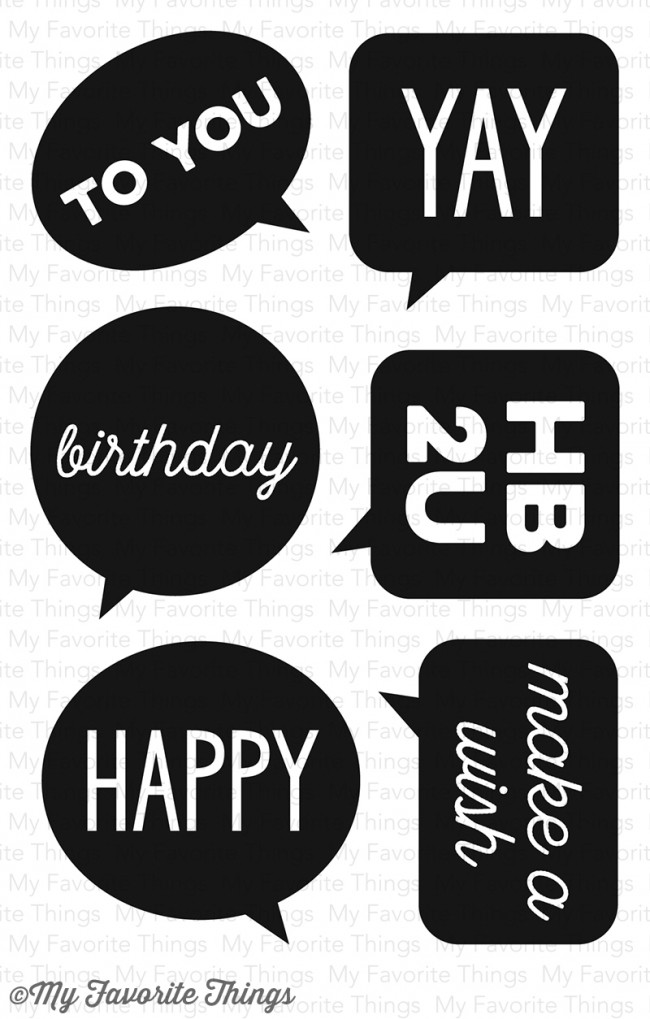 *SALE* My Favorite Things - Birthday Speech Bubbles