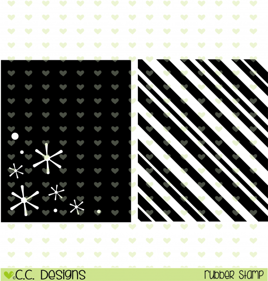*XMAS* C.C. Designs Holiday Backgrounds Rubber Stamps