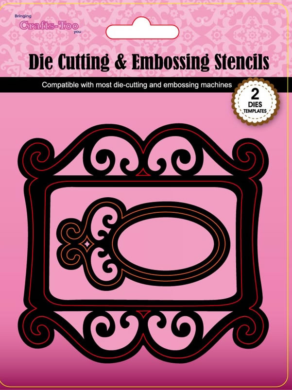 Crafts-Too Cutting and Embossing Stencils - Frame 4