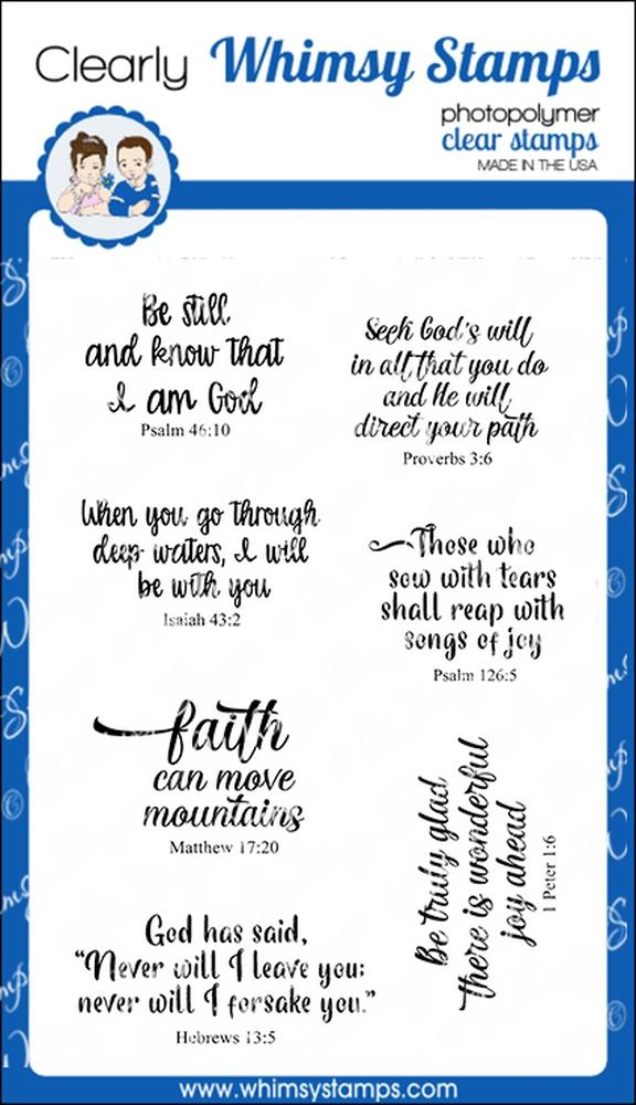 *NEW* - Whimsy Stamps - Stained Glass Scripture Sentiments