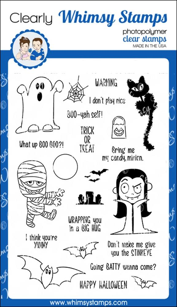 *NEW* - Whimsy Stamps - Halloweeners Clear Stamps