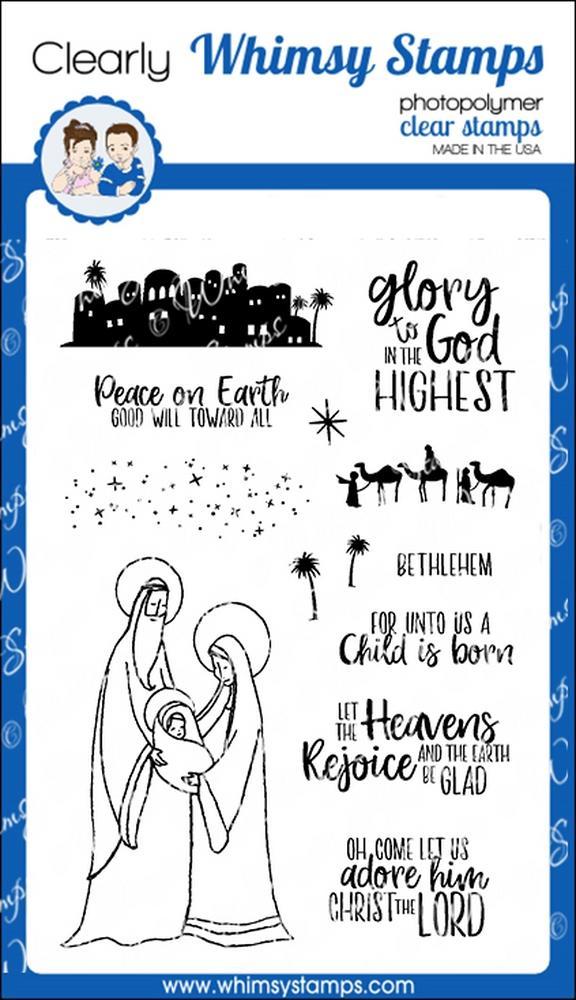 *NEW* - Whimsy Stamps - Glory to God Clear Stamps