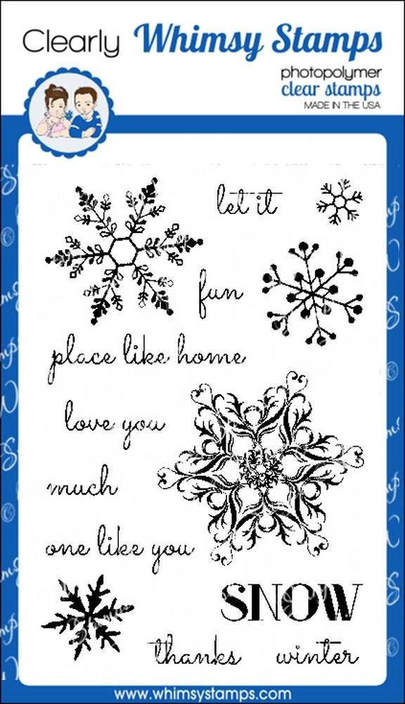 *XMAS* Whimsy Stamps - Snow Flurry