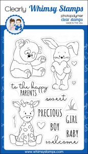 Whimsy Stamps - Baby Animals - Clear Stamps