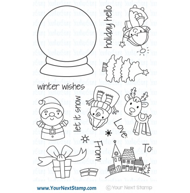 *NEW* Your Next Stamp- Holiday Snow Globe