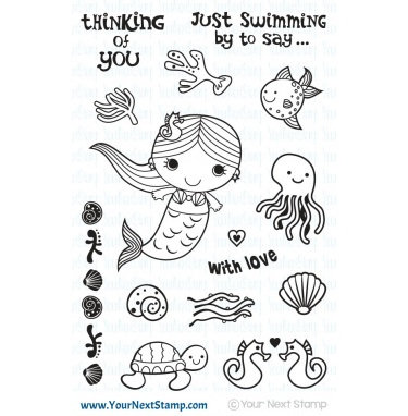 *OFFER OF THE WEEK* - Your Next Stamp- Just Swimming By Mermaid