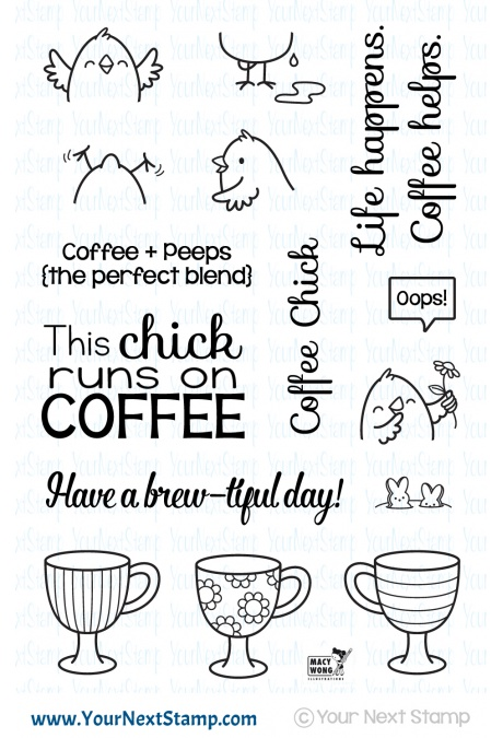 Your Next Stamp - Coffee Chick