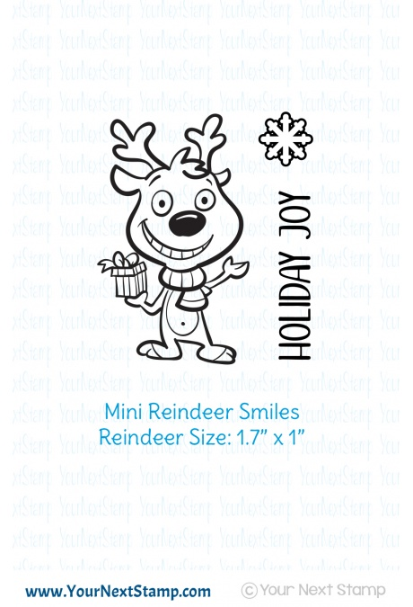 Your Next Stamp - Mini Reindeer Smiles