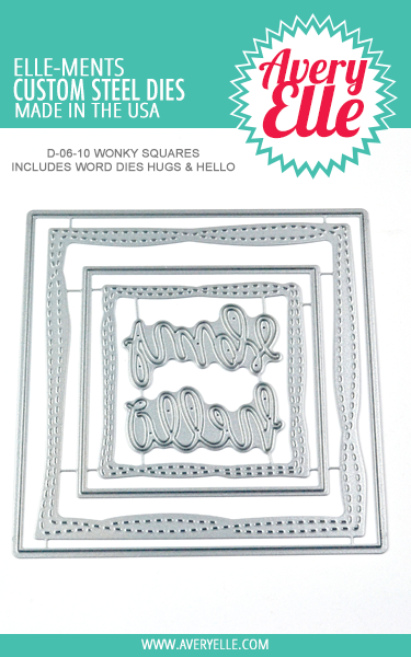 *NEW* - Avery Elle - Die: Wonky Squares Elle-ments