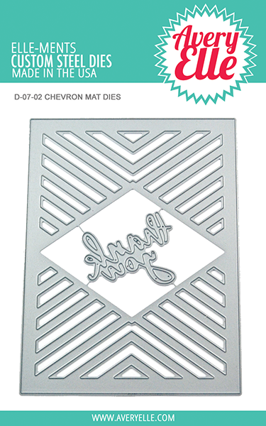 *NEW* - Avery Elle - Die: Chevron Mat Elle-ments