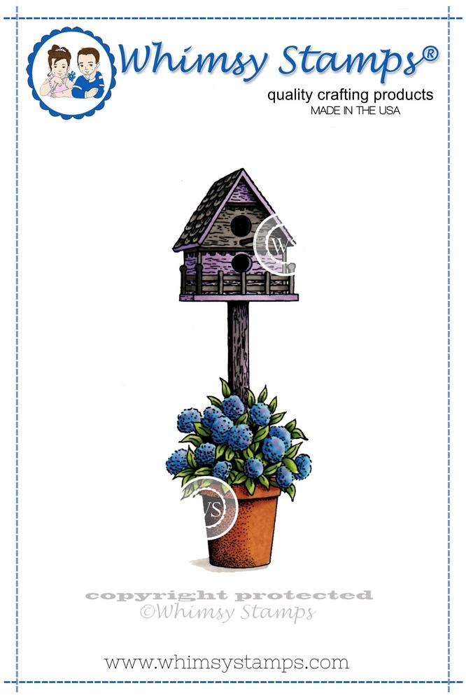 *NEW* - Whimsy Stamps - Potted Birdhouse