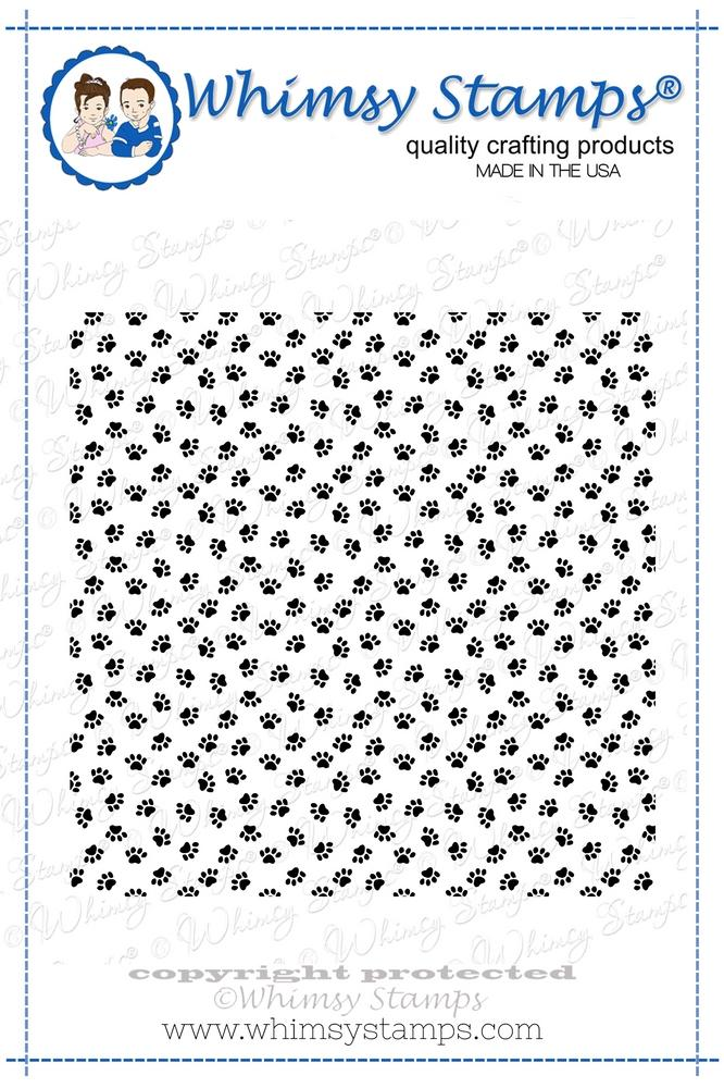 *NEW* - Whimsy Stamps - Puppy Paws Background