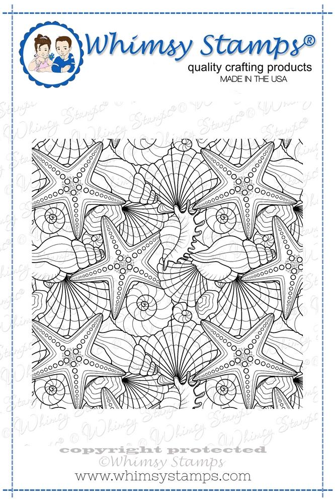 *NEW* - Whimsy Stamps - Seashell Background