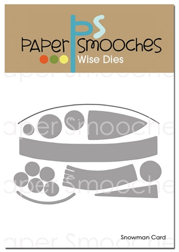 Paper Smooches - Snowman Card Dies