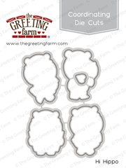 *NEW* -  The Greeting Farm - Hi Hippo - die cuts
