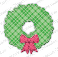 *XMAS*  Impression Obsession- Patchwork Wreath