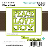Die-versions - Cute Cubes - Peace Love Joy