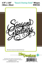 - XMAS Die-Versions - Whispers - Seasons Greetings Script