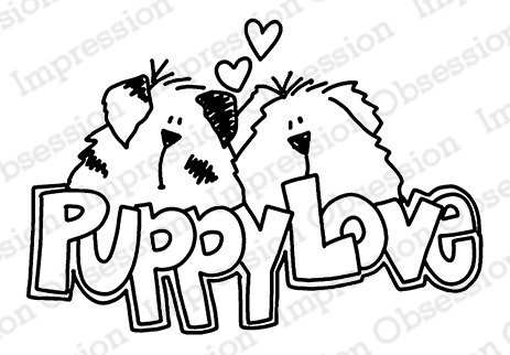 *NEW* - Impression Obsession - Puppy Love - cling mounted