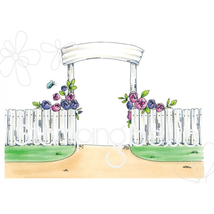 Stamping Bella - Garden backdrop