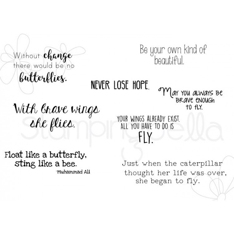 *PRE-ORDER - Stamping Bella - Butterfly sentiment set