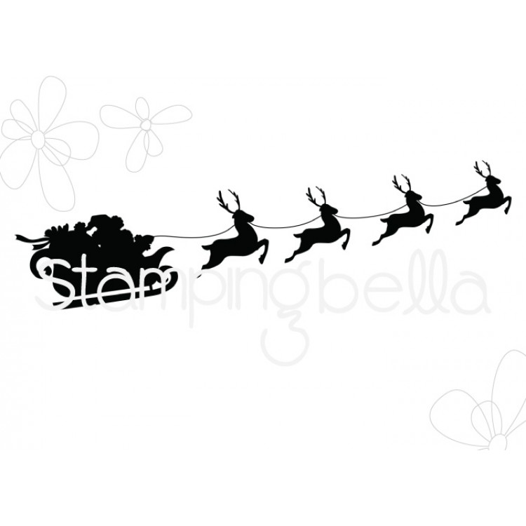 *NEW* - Stamping Bella - SANTA'S SLEIGH SILHOUETTE