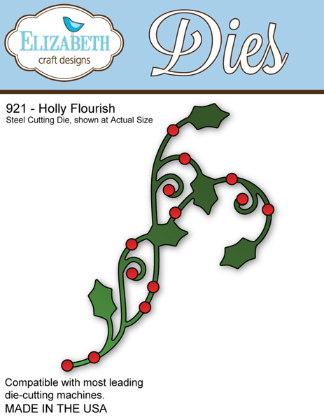 *XMAS* Elizabeth Craft Designs - Holly Flourish
