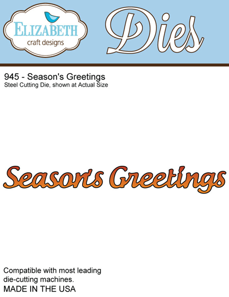 *XMAS* Elizabeth Craft Designs - Season's Greetings