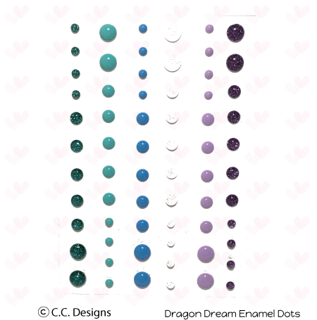 CC Designs - Dragons Dreams Enamel Dots