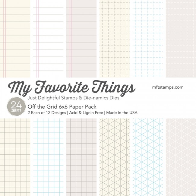 My Favorite Things - Off the Grid 6 x 6 Paper Pack