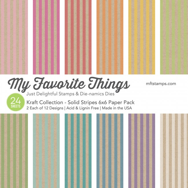 My Favorite Things - Kraft Collection - Solid Stripes Paper Pack