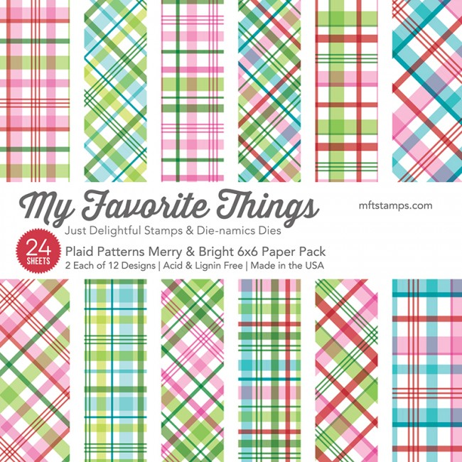 My Favorite Things - Plaid Patterns Merry & Bright Paper Pack