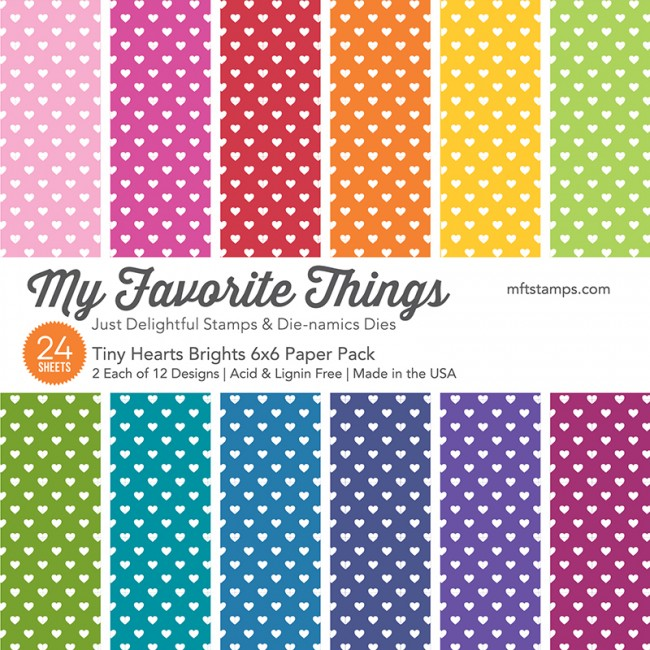 My Favorite Things - Tiny Hearts Brights Paper Pack
