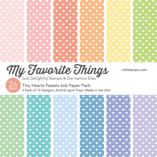 My Favorite Things - Tiny Hearts Pastels Paper Pack