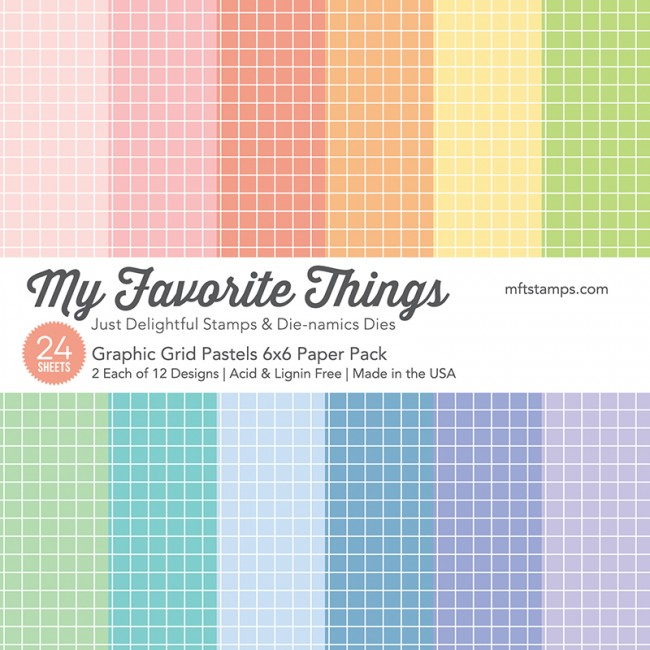 My Favorite Things - Graphic Grid Pastels Paper Pack