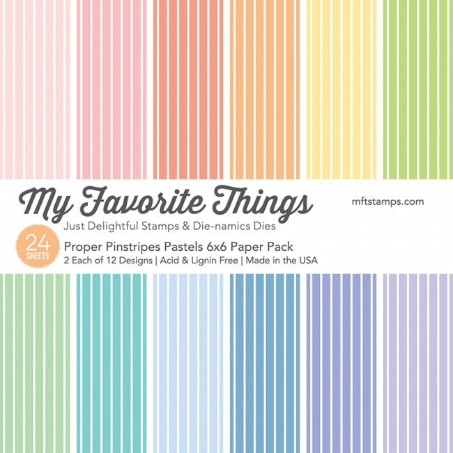 My Favorite Things - Proper Pinstripes Pastels Paper Pack