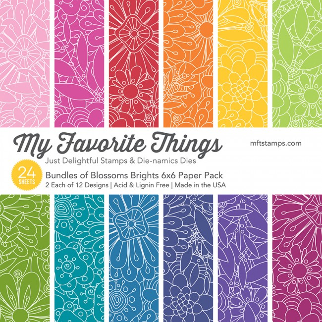My Favorite Things - Bundles of Blossoms Brights Paper Pack
