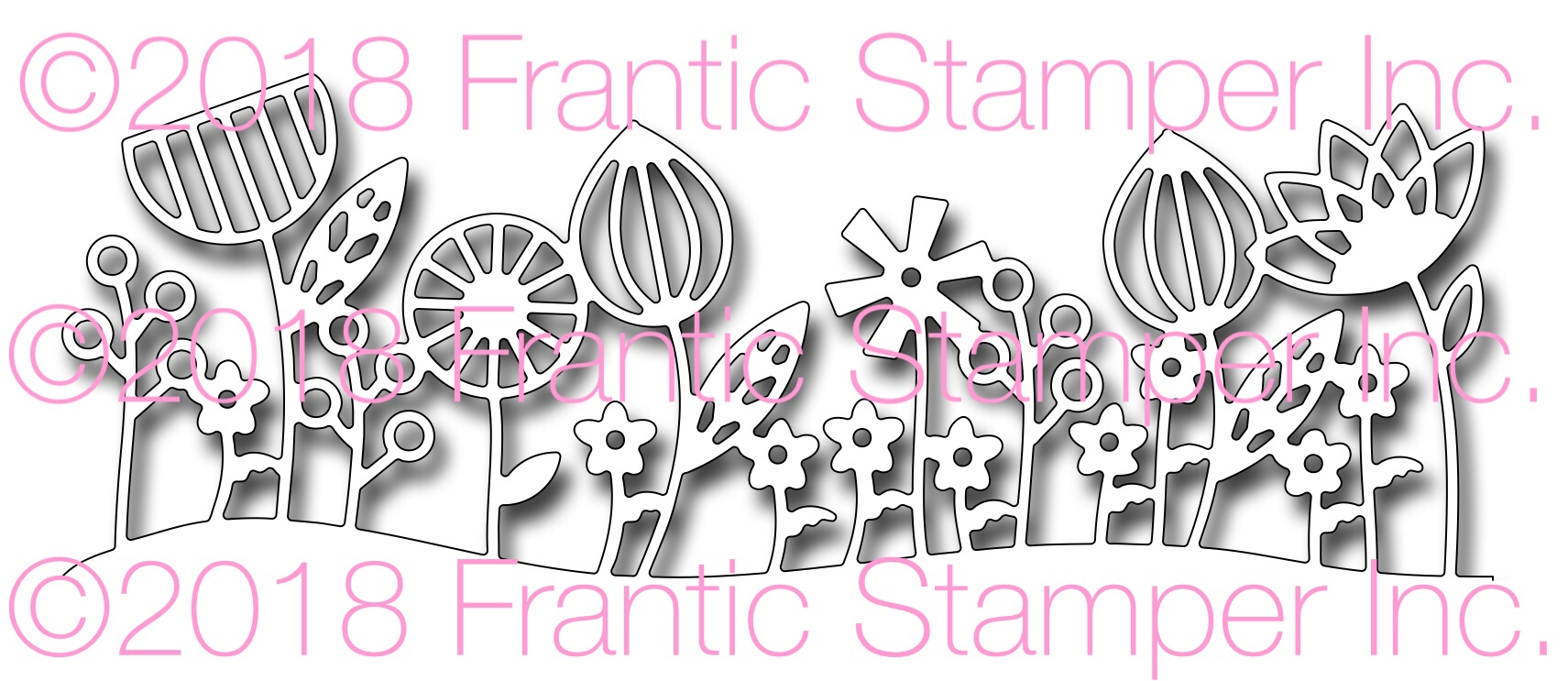 *NEW* - Frantic Stamper - Precision Die - Contemporary Floral Border