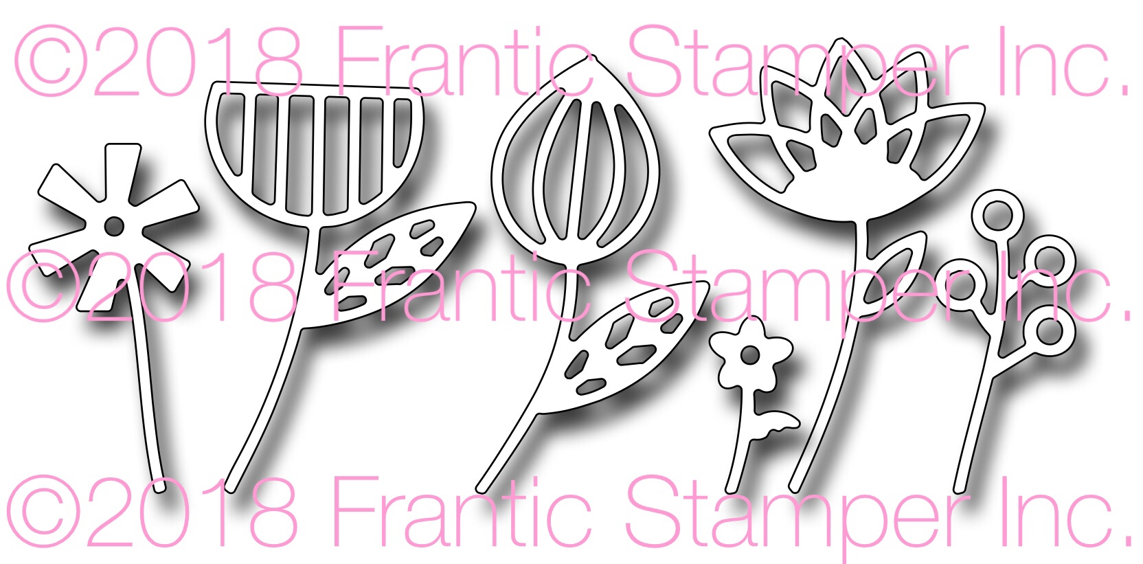 *NEW* - Frantic Stamper - Precision Die - Contemporary Flowers