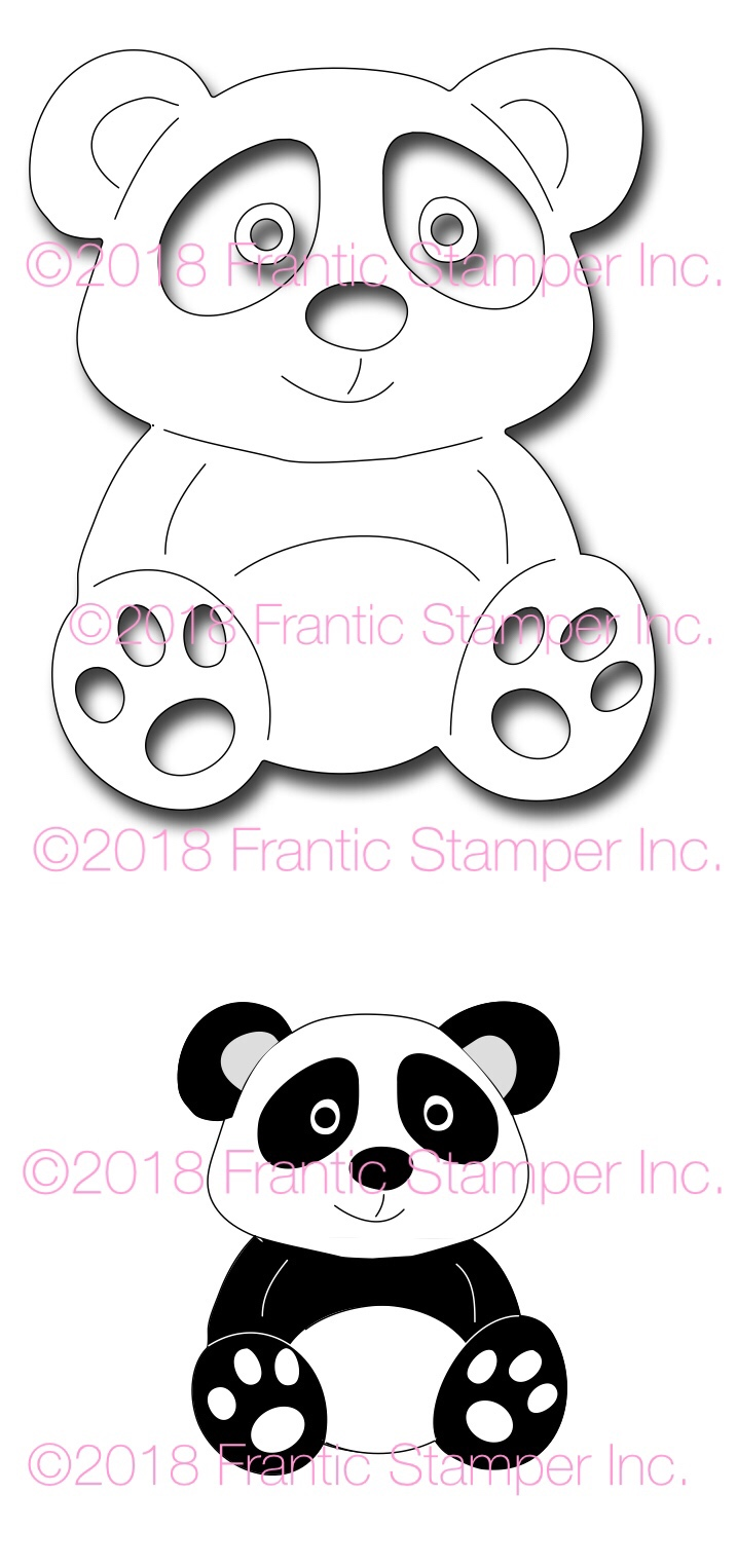 *NEW* - Frantic Stamper - Precision Die - Ping the Panda