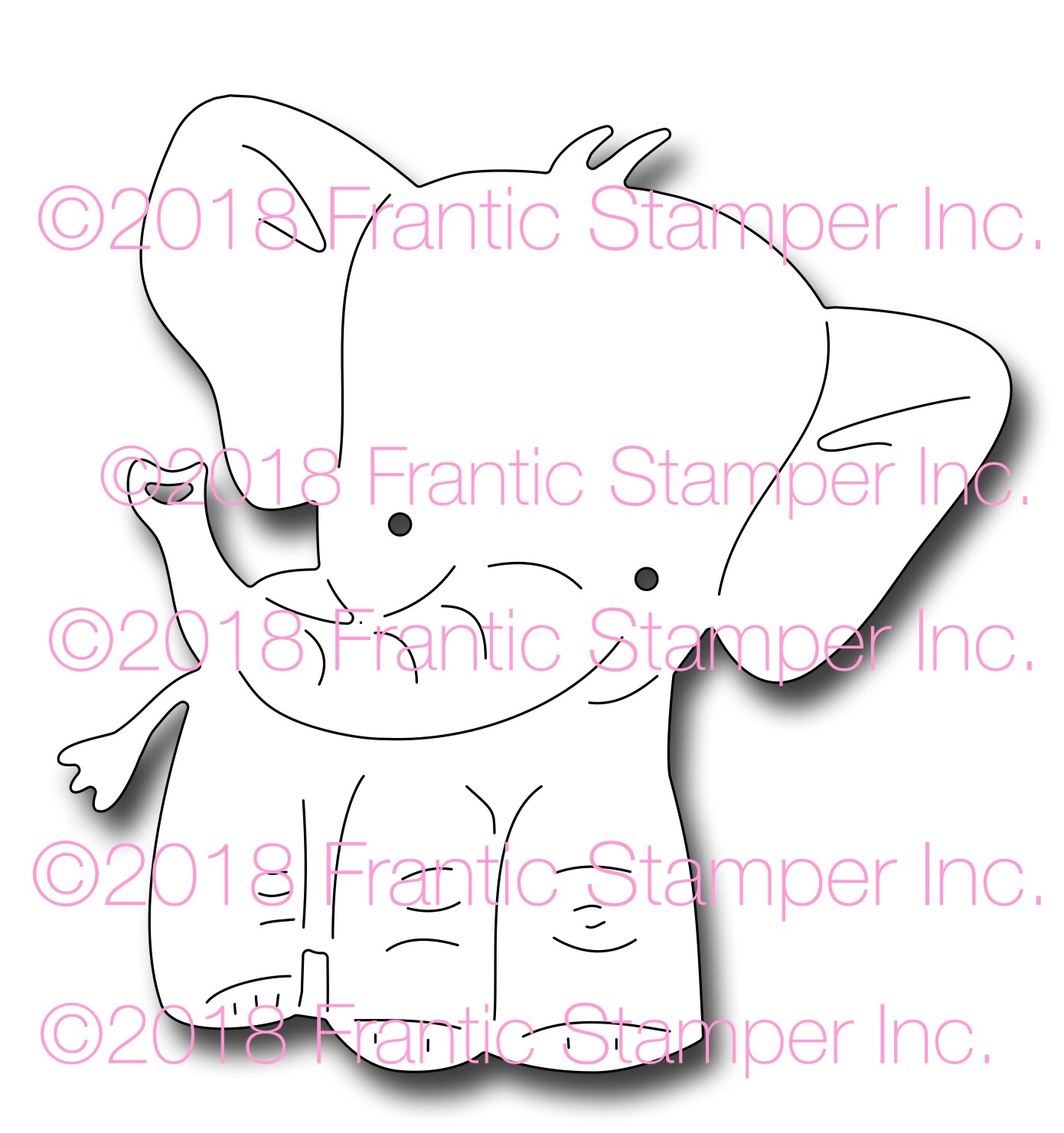 *NEW* - Frantic Stamper - Precision Die - Elmer the Elephant