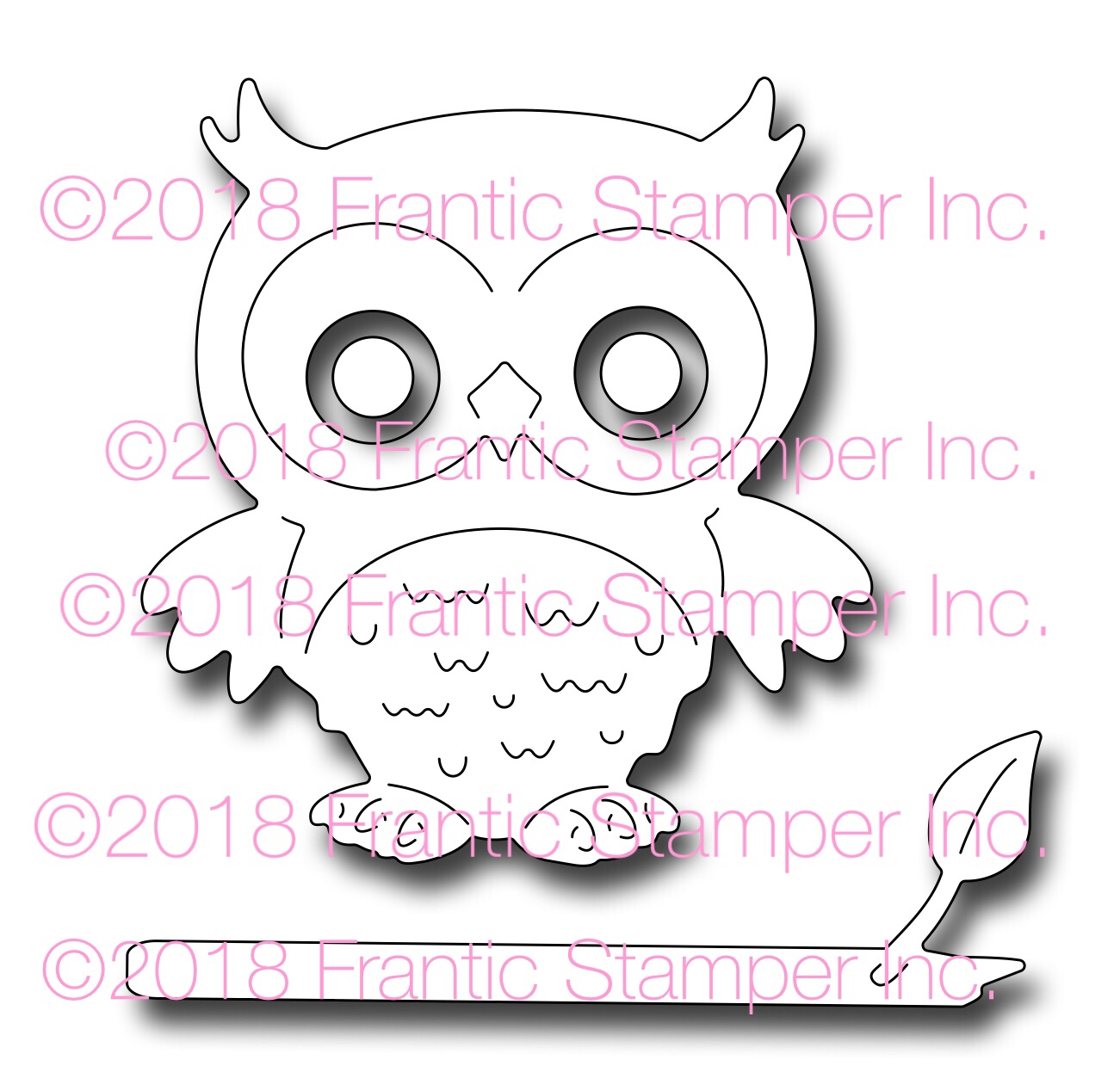 *NEW* - Frantic Stamper - Precision Die - Ollie the Owl