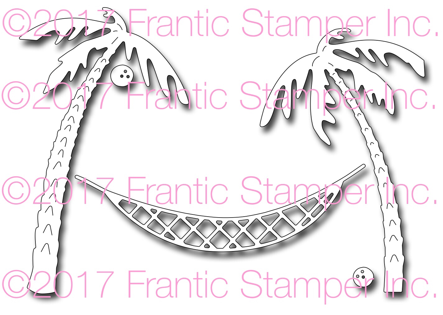 *NEW* - Frantic Stamper - Precision Die - Hammock and Palm Trees