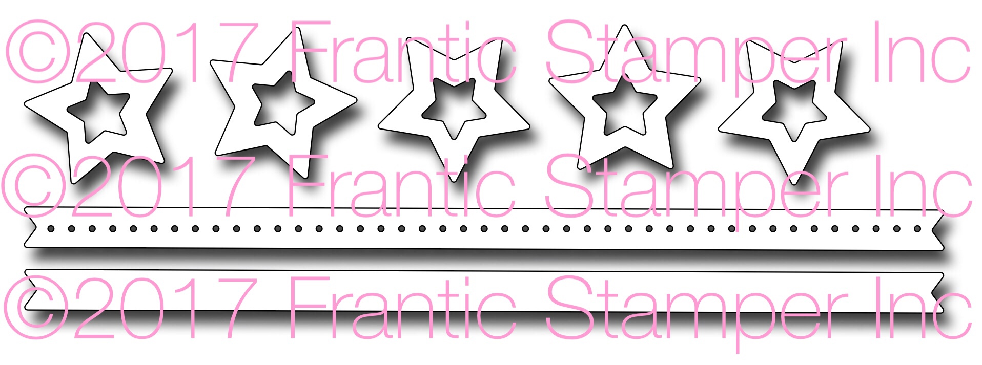 *NEW* - Frantic Stamper - Precision Die - Five star