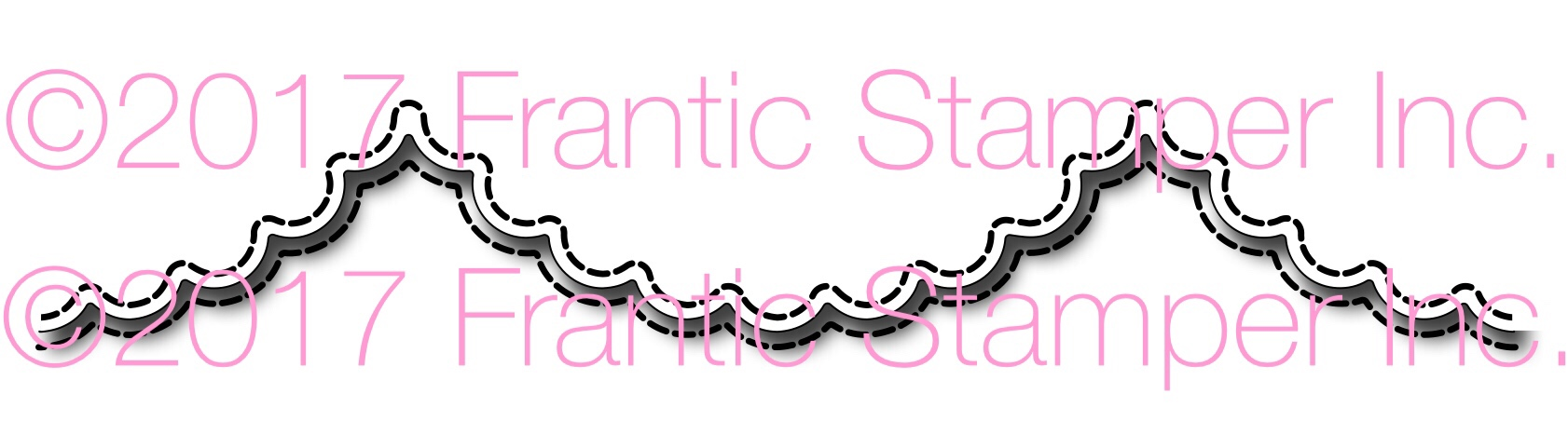 *NEW* - Frantic Stamper - Precision Die - Large Scalloped Scallop Edger