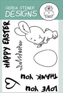 Gerda Steiner - Brush Bunny 3x4 Clear Stamp Set
