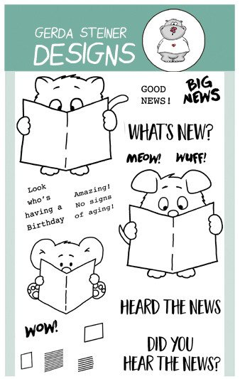 Gerda Steiner - What's new? 4x6 Clear Stamp Set