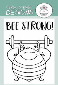Gerda Steiner - Bee Strong 2x3 Clear Stamp Set