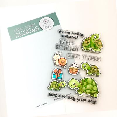 Gerda Steiner - Turtley Great 4x6 Clear Stamp Set